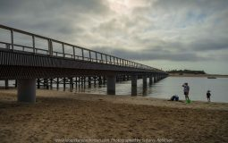 Barwon Heads, Victoria - Australia 'Sunrise at the Beachfront' Photographed by Karen Robinson March 2019 Comments - A beautiful morning with hubby visiting the area of Barwon Heads and some surrounding areas photographing the sunrise, the ocean beach and local native birdlife. Photograph featuring Barwon River Bridge Crossing.