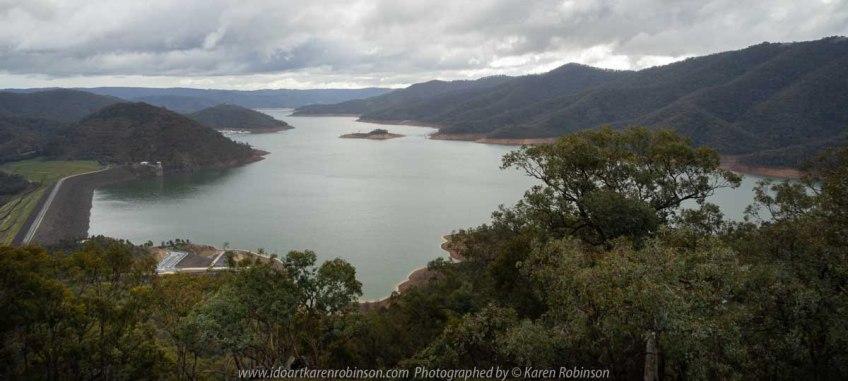Eildon, Victoria - Australia 'Jerusalem Creek and Lake Eildon Region' Photographed by Karen Robinson July 2019 Comments: Rainy winter morning photographing Lake Eildon Region. Photograph featuring views from Foggs Lookout off Mt Pinniger Road - Eildon.