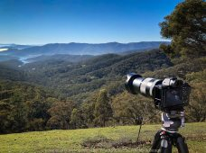 Taylor Bay, Victoria - Australia 'Lake Eildon Region' Photographed by Karen Robinson June 2019 Comments - Views from Skyline Road looking out over towards Lake Eildon. Photograph featuring Camera Equipment