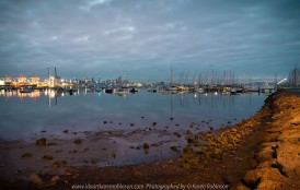 Williamstown, Victoria - Australia 'Early morning at Ferguson Street Pier looking out across Port Phillip Bay' Photographed by Karen Robinson July 2019 Comments - Cold winter's morning catching the sun rising.