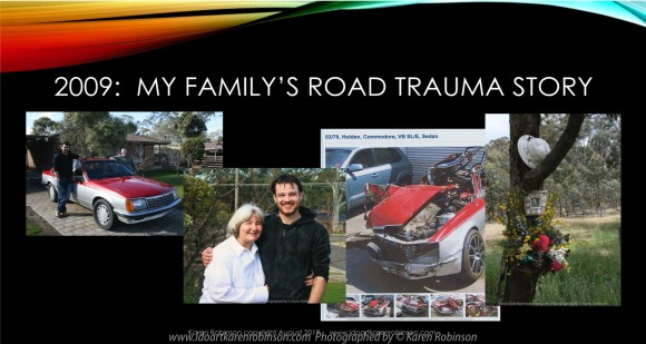 Geelong, Victoria - Australia 'TAC Artist Talk-Road Trauma presented by Karen Robinson PPP Slides' Produced by Karen Robinson August 2019 Comments - Presentation by Karen Robinson at TAC Head Office to staff.