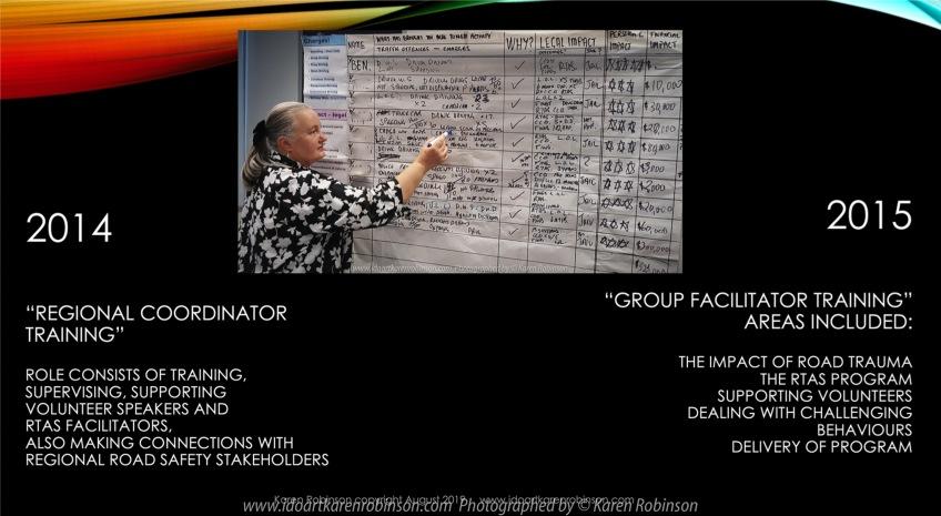 Geelong, Victoria - Australia 'TAC Artist Talk-Road Trauma presented by Karen Robinson PPP Slides' Produced by Karen Robinson August 2019 Comments - Presentation by Karen Robinson at TAC Head Office to staff.