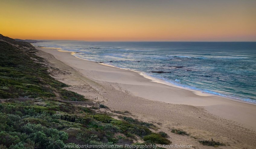 Portsea, Victoria - Australia 'Portsea Back Beach - Peninsula Beach and Ocean Views' Photographed by Karen Robinson August 2019 Comments - Sunrise on the last day of Winter!