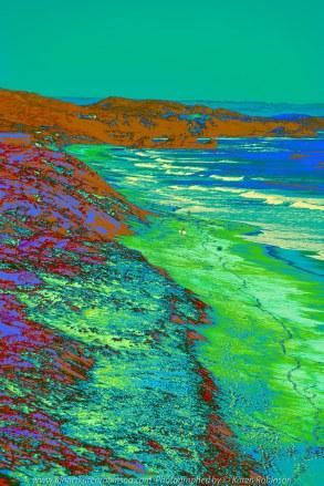 Portsea, Victoria - Australia 'Portsea Back Beach - Peninsula Beach and Ocean Views' Photographed by Karen Robinson August 2019 - Comments - Photograph abstraction featuring Portsea Back Beach views.