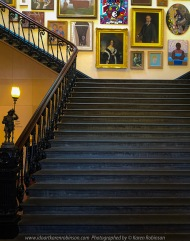 Ballarat, Victoria - Australia 'Stairs Photo Set' Photographed by Karen Robinson September 2019 Comments - During our visit to all the different locations of the Ballarat's 'International Foto Biennal' I decided to take some photographs of stair- wells featured within some of Ballart's historical buildings. We had to climb most of them! Photograph featuring Art Gallery of Ballarat stairwell.