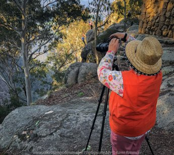 Mount Buffalo, Victoria - Australia 'Mount Buffalo Road' Photographed by Karen Robinson September 2019 Comments - Beautiful Spring day driving along Mount Buffalo Road photographing magnificent regional scenic views. Photograph featuring Karen Robinson photographing panoramic views from Mount Buffalo Lookout.