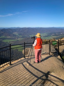 Mount Buffalo, Victoria - Australia 'Mount Buffalo Road' Photographed by Karen Robinson September 2019 Comments - Beautiful Spring day driving along Mount Buffalo Road photographing magnificent regional scenic views. Photograph featuring Karen Robinson taking photographs of panoramic views from Mount Buffalo Lookout.