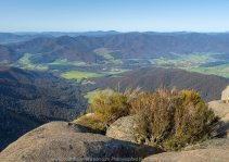 Mount Buffalo, Victoria - Australia 'Mount Buffalo Road' Photographed by Karen Robinson September 2019 Comments - Beautiful Spring day driving along Mount Buffalo Road photographing magnificent regional scenic views. Photograph featuring panoramic views from Mount Buffalo Lookout.