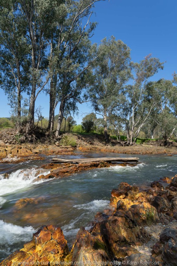 Myrtleford, Victoria - Australia 'Ovens River' Photographed by Karen Robinson September 2019 Comments - A stop at the beautiful Ovens River on our way up to Bright revealed a beautiful location for a welcome break from driving.