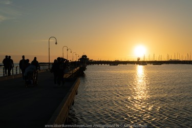 St. Kilda, Victoria - Australia 'Port Phillip Bay St. Kilda Pier' Photographed by Karen Robinson September 2019 Comments - Beautiful evening at St. Kilda Pier. with members of the Craigieburn Camera Club capturing the sunset.