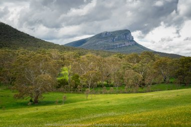 Dunkeld, Victoria - Australia 'Mount Abrupt' Photographed by Karen Robinson November 2019 Comments - On our way back home from Warrnambool to Melbourne, we stopped to take some photographs of Mount Abrupt. The day was overcast with grey skies but I tried my best to capture and develop a photograph that highlighted to the beauty of this region.