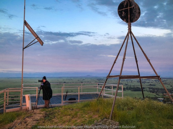 Penshurst, Victoria - Australia 'Lookout at Mount Rouse' Photographed by Karen Robinson November 2019 Comments - Cold, rainy, cloudy early morning photographing the sunrise at the top of Mount Rouse. Photograph featuring Karen Robinson - Photographer.