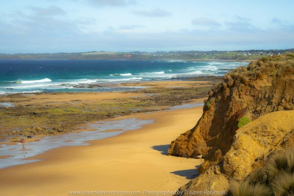 Cape Woolamai, Victoria - Australia 'Surf Beach Phillip Island National Park' Photographed by Karen Robinson February 2020 Comments - Glorious summer morning taking in views of wide-open blue ocean and long stretches of golden sands and rugged cliffs.