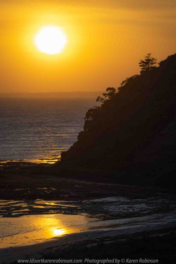 Flinders, Victoria - Australia 'Sunrise' Photographed by Karen Robinson February 2020 Comments - Early morning photography around the region just before and just after sunrise. Photograph featuring magnificent sunrise over the ocean near Flinders Golf Club.