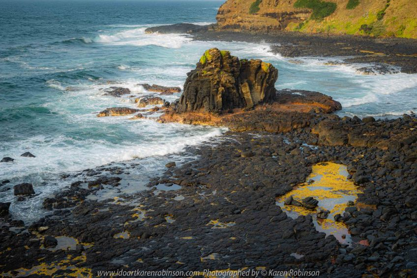 Flinders, Victoria - Australia 'Sunrise' Photographed by Karen Robinson February 2020 Comments - Early morning photography around the region just before and just after sunrise. Photograph featuring views from the Blowhole Lookout out over the ocean - Bass Strait.