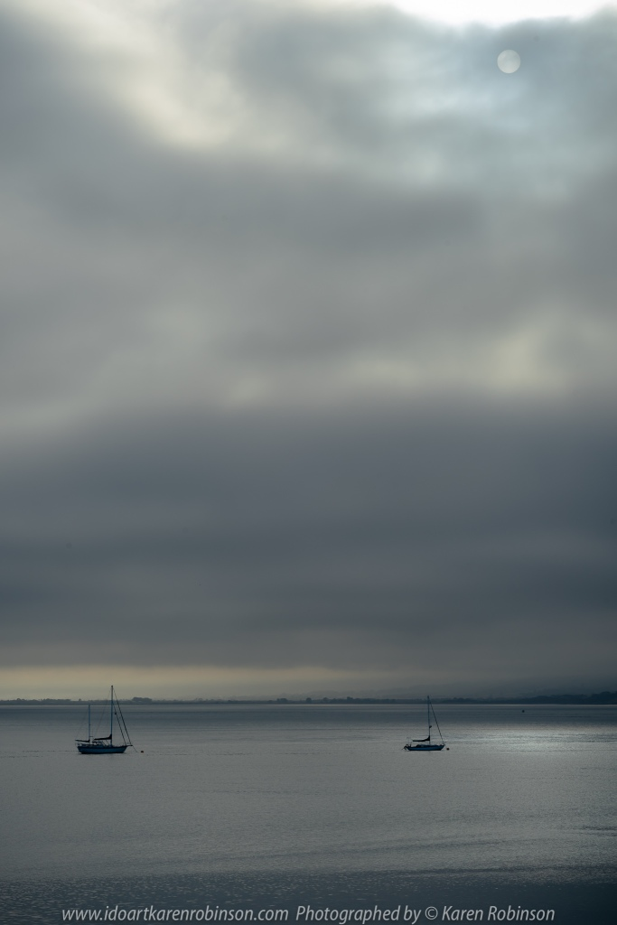 Newhaven, Victoria - Australia 'Western Port Bay Views' Photographed by Karen Robinson February 2020 Comments: Silvering image as dark grey clouds filled the sky.