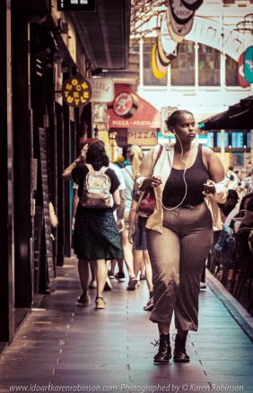 Melbourne, Victoria - Australia 'Fine summer morning at Degreaves Street' Photographed by ©Karen Robinson Jan 2021 Comments: Decided to do some street photography for a change in one of Melbourne's iconic laneways. Because of COVID-19 there was a great reduction of the number of people when compared to past years. Mask wearing being a sign of the times!
