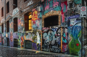 Melbourne, Victoria - Australia 'Wet Morning Street Photography' Photographed by Karen Robinson. Dec 2021 Comments: Giving Street Photography a go in the City of Melbourne. Photography featuring Hosier Lane off Flinders Lane.