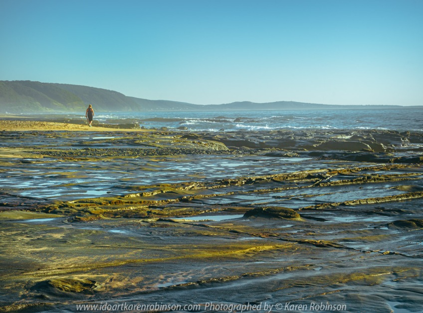 Lorne, Victoria - Australia 'Beach Queenscliff Coastal Reserve' Photographed by Karen Robinson February 2021 Comments: Wonderful rock pools along this coastline beach with big views of the ocean. Photograph featuring views from Bert Alsop Track.
