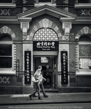 Melbourne, Victoria - Australia 'Little Bourke Street' Photographed by Karen Robinson Jan 2021 Comments: Decided to venture into the City of Melbourne - Chinatown on Little Bourke Street to do some Street/Documentary Style Photography. Photograph featuring three women wearing sunglasses walking together - Black and White photo.