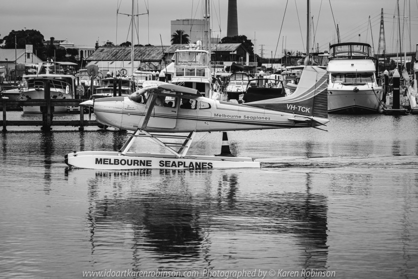 Williamstown, Victoria - Australia 'Williamstown Newport Foreshore' Photographed by Karen Robinson February 2021 Comments: Hunt and Shoot day with Craigieburn Camera Club looking for interesting subjects to photograph. Photograph featuring Seaplane with water reflection.