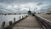 Williamstown, Victoria - Australia 'Williamstown Newport Foreshore' Photographed by Karen Robinson February 2021 Comments: Hunt and Shoot day with Craigieburn Camera Club looking for interesting subjects to photograph. Photograph featuring HMAS Castlemaine Ship at Gem Pier.