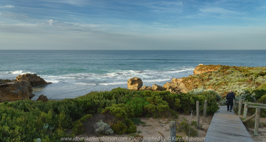 Blairgowrie, Victoria - Australia 'Spray Point at Sunrise' Photographed by ©Karen Robinson March 2021 Comments: Just after sunrise at Spray Point, a beautiful scenic coastal location.