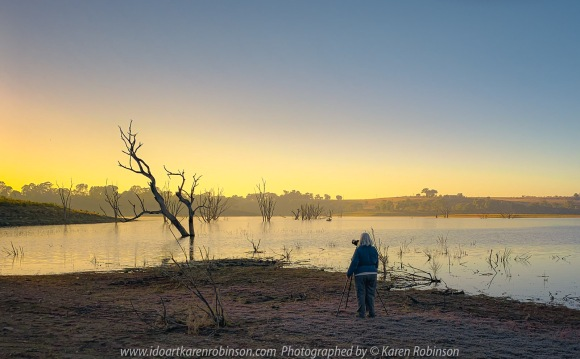 Kimbolton, Victoria - Australia 'Bo-Bay Sunrise at Lake Eppalock' Photographed by Karen Robinson Feb 2021 Comments: Early summer morning capturing the sunrise at Bo-Bay located within Lake Eppalock. Photograph featuring Karen Robinson Photographer.