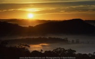 Strath Creek, Victoria - Australia 'Sunrise at Murchison Gap Lookout' Photographed by Karen Robinson May 2021 Comment: Beautiful sunrise at the lookout. Foggy mystical views of the valleys stretched across a vast landscape.